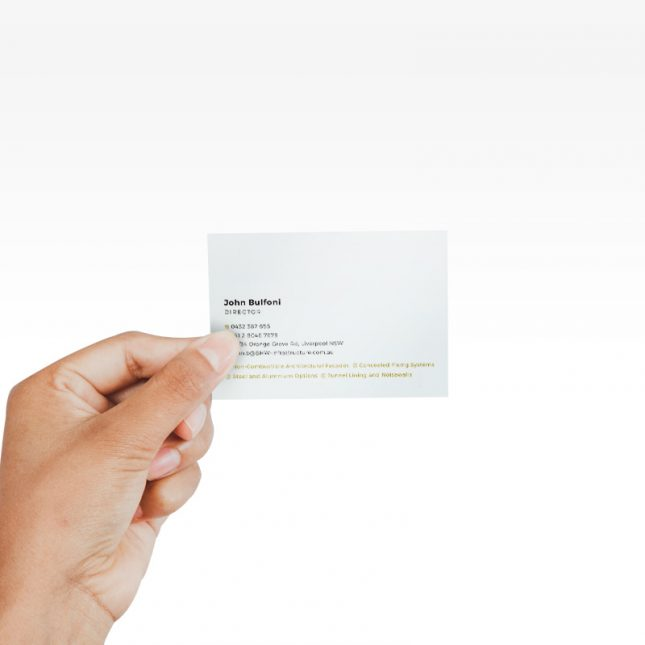 Example of printed business card