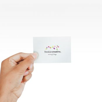 Full color printed business card