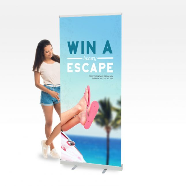 Full-color pull up banner