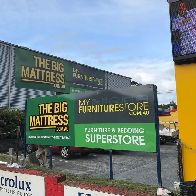 Large sign for a furniture store