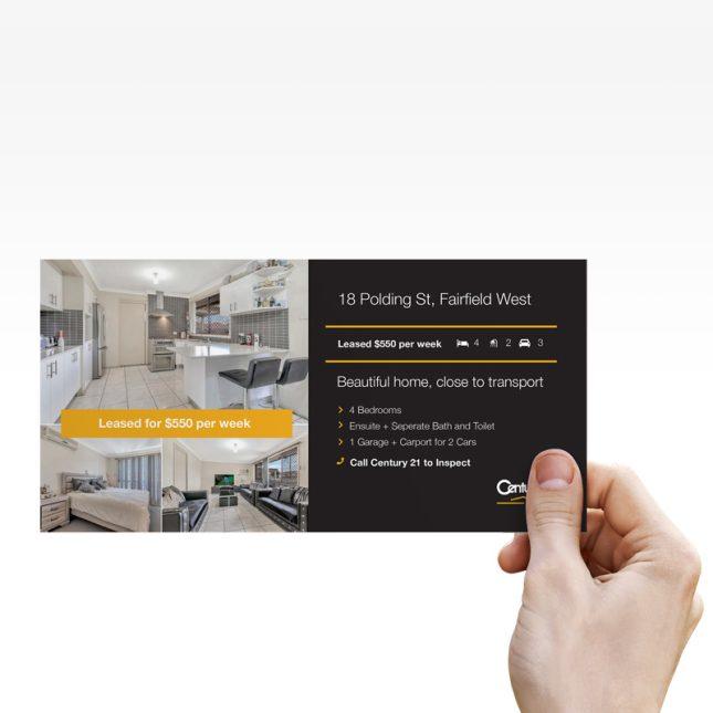 Custom printed flyer
