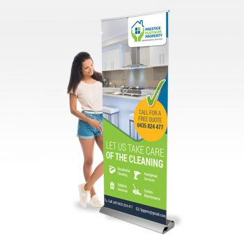 Trade show pull up banner