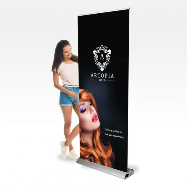 Pull up banner example